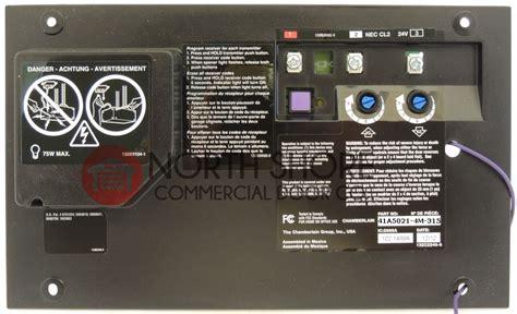 programming garage door opener liftmaster chamberlain 41a5021 4m 315 garage door opener