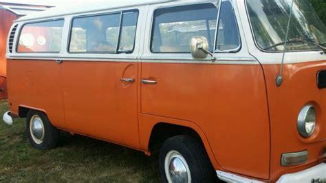 volkswagen van orangewhite  sale volkswagen bus