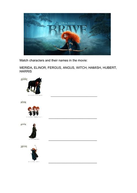 worksheet brave