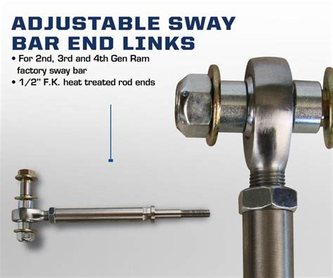 "Carli Dodge 3"" Adjustable Sway Bar End Links 94 12"