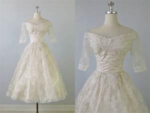 1950s wedding dress 50s tea length wedding dress pearl for 1950s tea length wedding dress