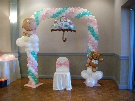 balloons baby shower balloon arch for a baby shower baby shower pinterest pink trees trees and arches