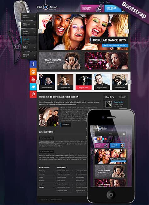 radio station html website template  website templates