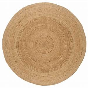 tapis rond naturel beige en jute tisse a la main With tapis rond naturel