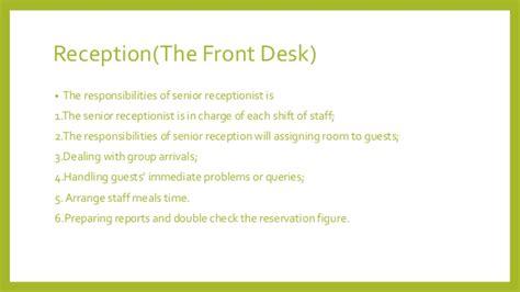 front desk receptionist duties front office department design by
