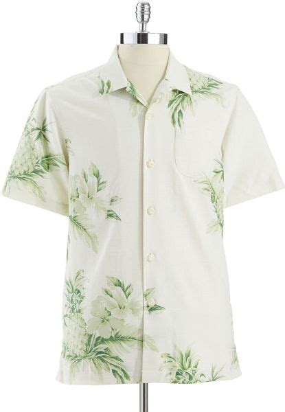tommy bahama white pineapple l tommy bahama pina colada pineapple buttondown shirt in