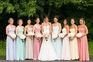 Multi Colored Pastel Bridesmaid Dresses