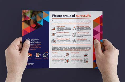 examples  recruitment brochure designs  word psd