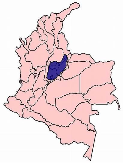 Mapa Muisca El Imperio Colombia Map Dorado