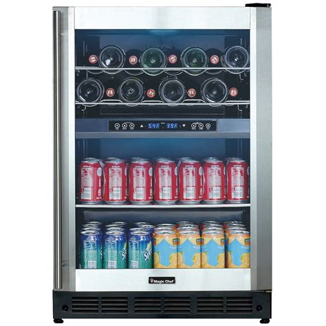 Beverage Fridge by 24 Inch Wine Beverage Cooler Beverage Coolers Kitchen