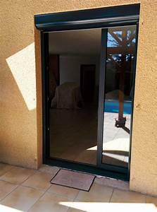 Porte Coulissante à Galandage : porte fen tre coulissante galandage en aluminium gris ~ Dailycaller-alerts.com Idées de Décoration