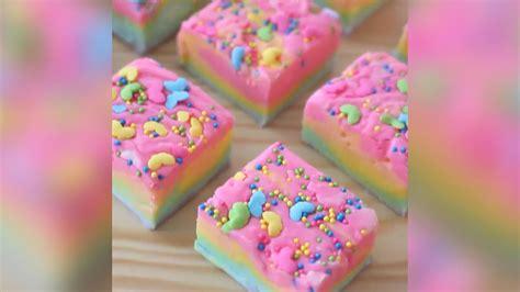 regenbogen kuchen ohne backen rezept dessert kuchen