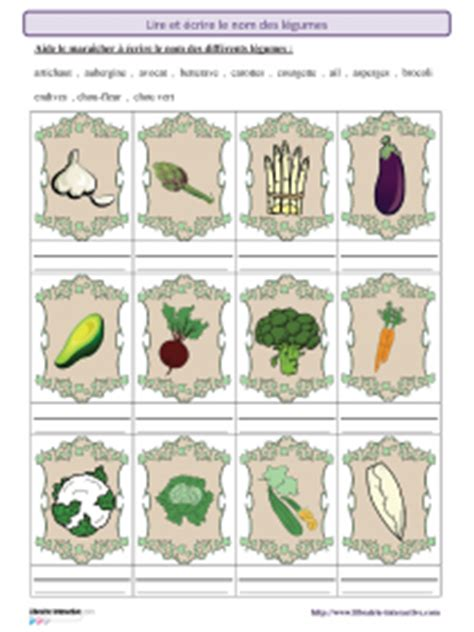 librairie interactive ecrire le nom des legumes