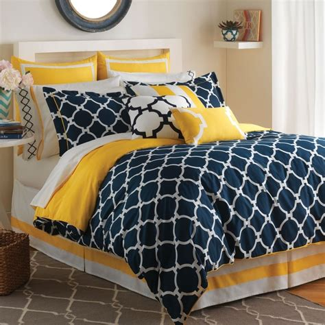 Blue And Yellow Bedroom Ideas by Navy White Yellow Bedspreads Hton Links Bedding