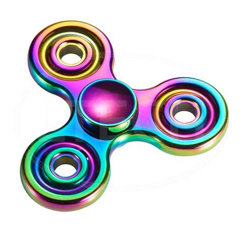 fidget spinner metal box rainbow fidget spinner metal multi colour spinner trending