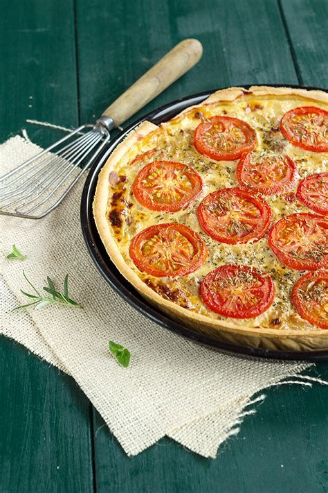 dijon cuisine tuna and tomato tart with dijon mustard a