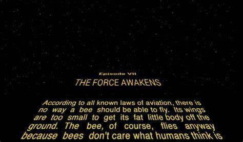 Bee Movie Script Meme - the 19 best exles of the star wars opening scroll meme smosh