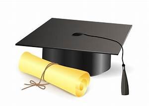 Diploma Graduation Cap Vector   VectorFans