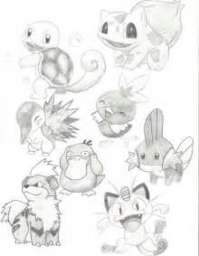Pokemon Pencil Drawings
