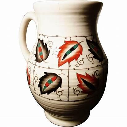 Pottery Jug Pattern Crown Ducal Rubylane Embossed