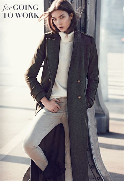 Karlie Kloss For Mango Winter Fashion Military