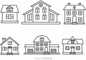 Vector House Outline Set - Download Free Vector Art, Stock ...