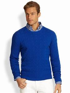 Polo ralph lauren Cableknit Cashmere Sweater in Blue for ...