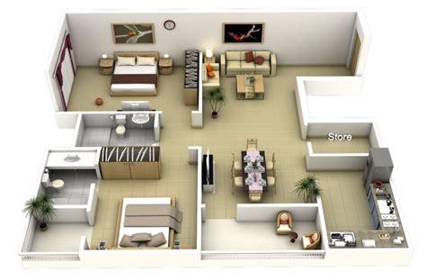 appartement 2 chambres 50 plans 3d d 39 appartement avec 2 chambres
