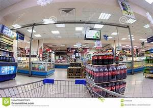 Interior Of The Supermarket Perekrestok. Editorial Stock ...