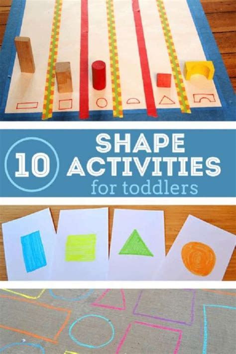 10 shape activities for toddlers it s hip to be square 297 | toddler shape activities e1455675907138