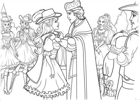 ausmalbilder fuer kinder barbie und die drei musketiere
