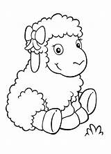 Sheep Coloring Baby Adorable Pages Cute Drawing Coloringsky Printable Animals Animal Paper sketch template
