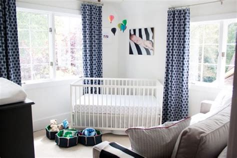 real room tour fresh blue and white nursery