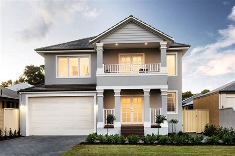 exterior inspiration hamptons style grey white  storey