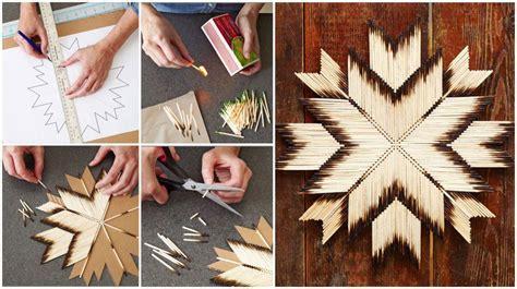 diy match stick art diy projects usefuldiycom