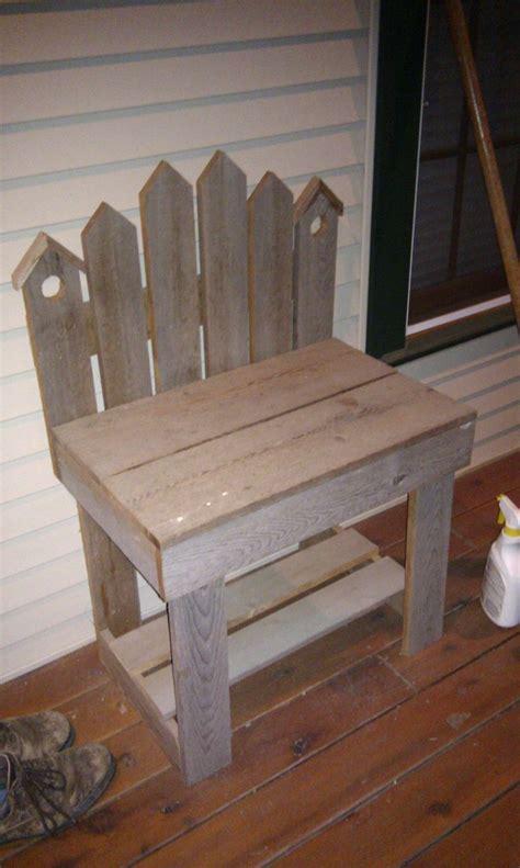 small bench    reclaimed barn wood
