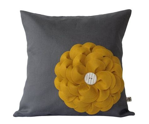 Mustard Yellow Felt Flower 16