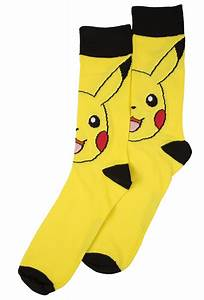 mens pokemon pikachu crew socks