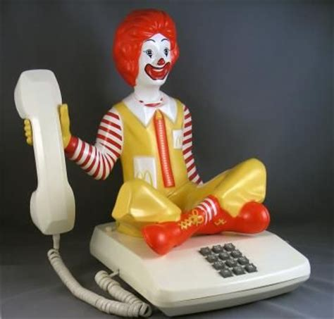 mcdonald s phone ronald mcdonald novelty character phone sitting