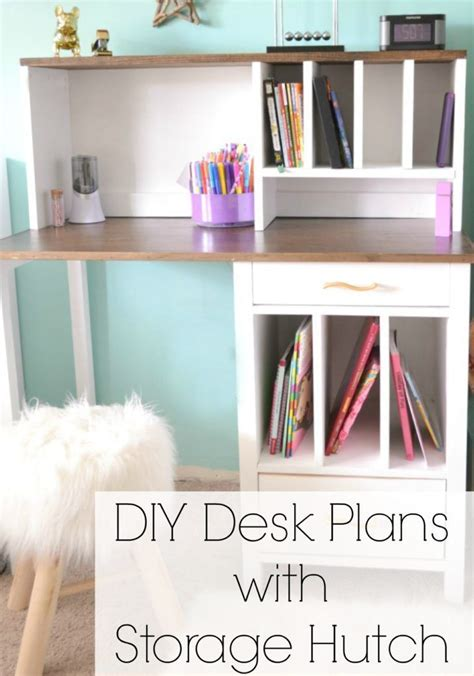 diy desk hutch with free plans from white desk hutch white and desks