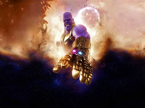 Wallpaper Thanos, Avengers Infinity War, 4k, Movies, #13029