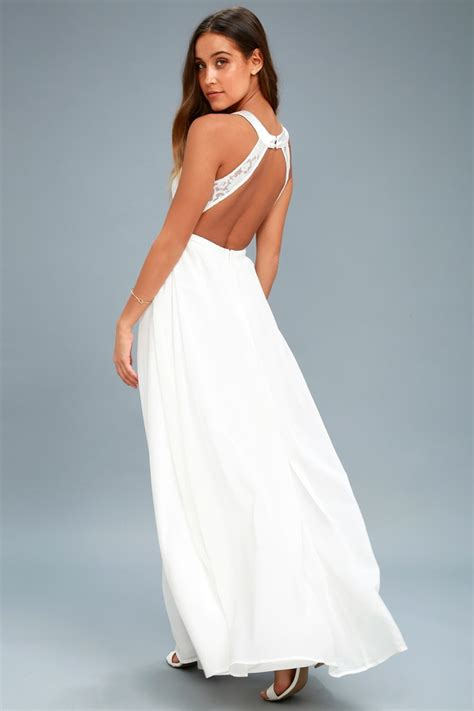 lovely white lace maxi dress white lace gown formal maxi