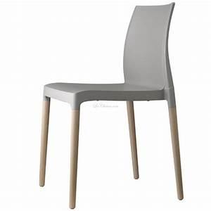 Chaise Plastique Et Bois CHLOE Et Chaise Design Plastique