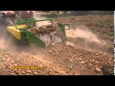 arracheuse pomme de terre faimlok maroc youtube