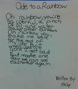 Ode Poem Examples Middle School - april 21 2015 poetry ...