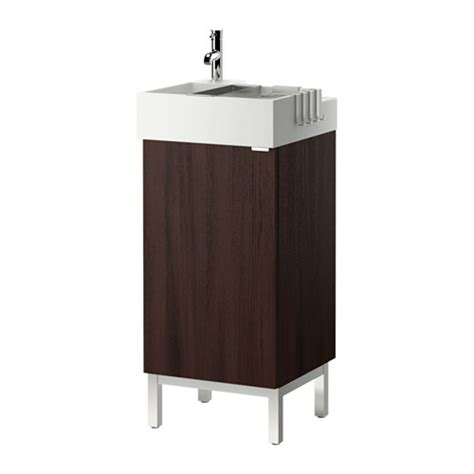 Ikea Lillangen Sink Uk by Lill 197 Ngen Sink Cabinet With 1 Door Black Brown Ikea