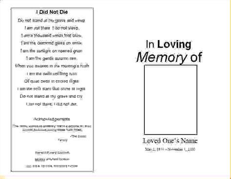 memorial service program template 7 funeral order of service templateagenda template sle agenda template sle