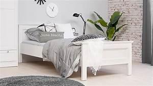 Bett Weiß 90x200 Ausziehbar : bett landwood bettgestell in wei mit kopfteil 90x200 cm landhausstil ~ Indierocktalk.com Haus und Dekorationen