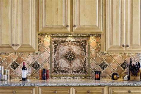 Gorgeous Kitchen Backsplash Decoration Under Rustic Wooden