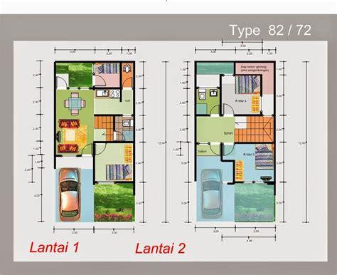 desain rumah minimalis  lantai luas tanah  foto